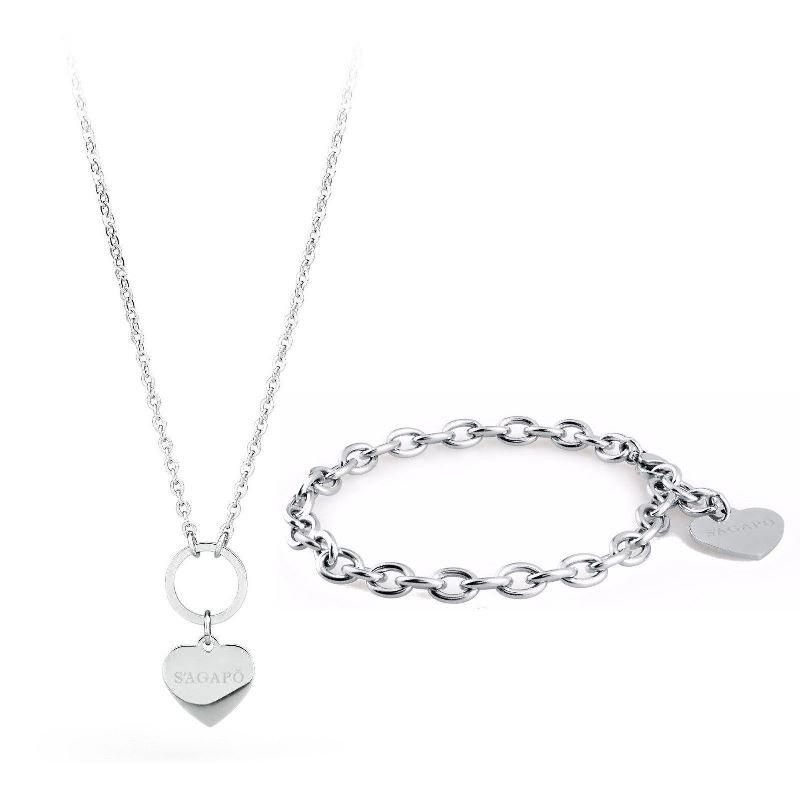 sagapo bracciale e collana - regalo per donna
