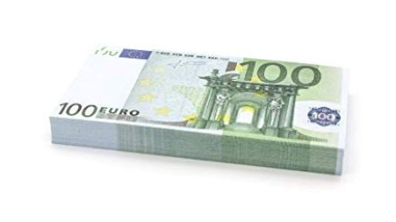 gadget Mazzetta di banconote (finte) 100 x €100 EURO