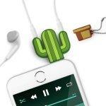 Arriva lo splitter audio per cellulari a forma di Cactus! Utilissimi soprattutto ai giovani, gli audio splitter consentono di collegare due cuffie in una sola presa.