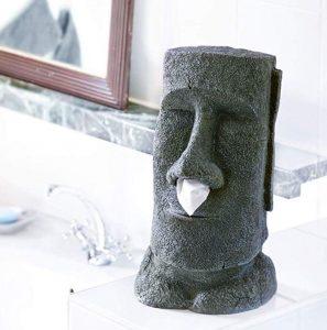 Il più mistico dei distributori di salviette! Il distributore di salviette a forma di statua dell'isola di pasqua! Una idea regalo più che originale, fantastica!