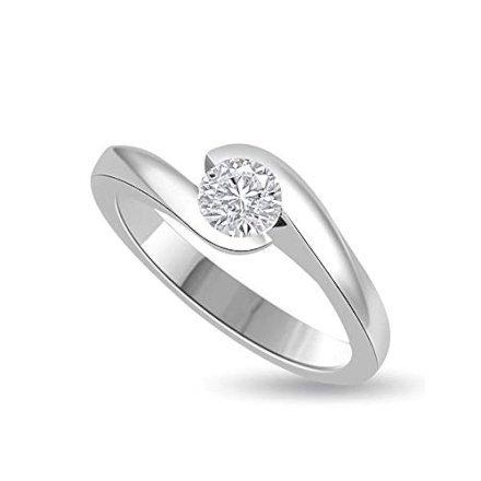 regali-per-donna Solitario da donna in oro bianco con diamante