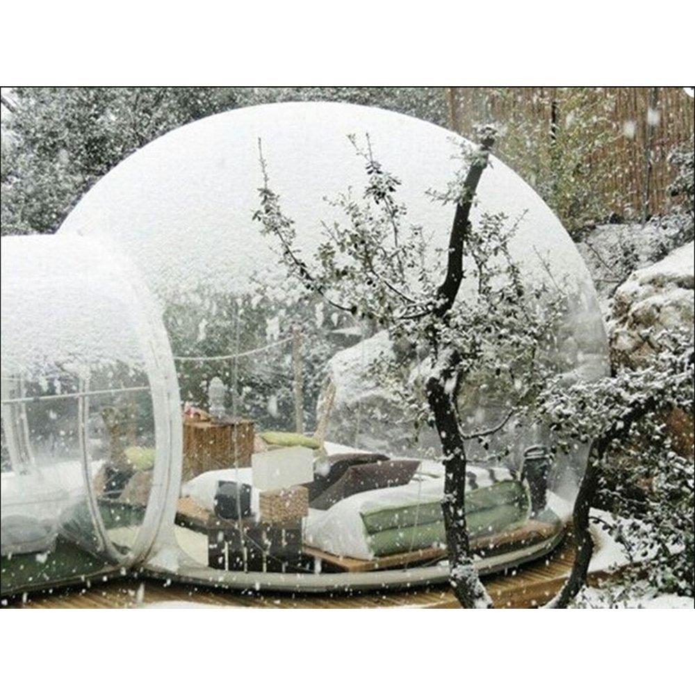 Perché non godersi i propri spazi aperti anche d'inverno? Freddo non ti temo con questa tenda a bolla!
