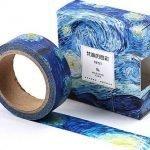 Decorate in modo delizioso le vostre camere con questo nastro adesivo riproducente i più bei dipinti di Van Gogh.