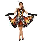 Costume da Donna Farfalla Aglais Insetto Vestito Abito Carnevale Halloween nuovo