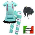 Simile Vanellope Vestito Carnevale Bambina Ralph Costume Spaccatutto VANEL01