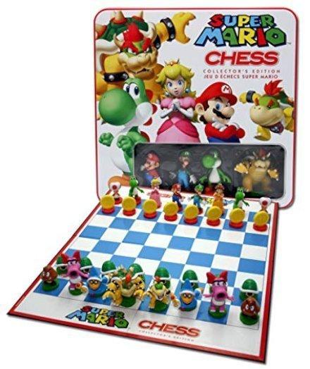 Avvicina i tuoi ragazzi all'istruttivo mondo degli scacchi regalandogli una scacchiera con i personaggi di Super Mario!