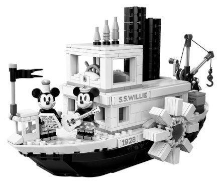 I fan di Topolino Disney adoreranno questo giocattolo da costruzione LEGO® Ideas 21317 Steamboat Willie!