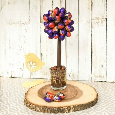 Personalised Cadbury Creme Egg Chocolate Tree Mother's Day Birthday Easter