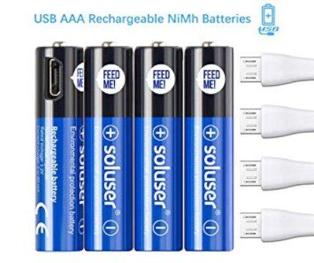 Finisce l'era delle batterie ricaricabili con ingombranti caricabatterie! Comincia l'era delle batterie ricaricabili via USB! Entra a far parte della rivoluzione ecologica!