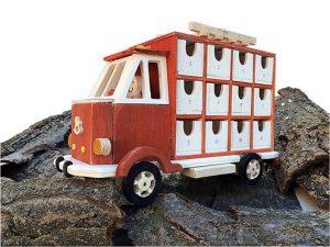 calendario dell'avvento camioncino in legno