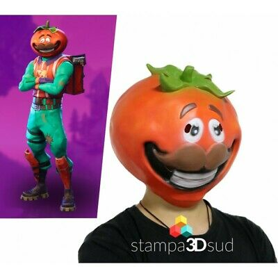 Maschera Fortnite / MR Tomato Head mask Cosplay Accessory CARNEVALE