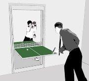 Per chi non ha spazio per un tavolo da ping pong una soluzione sorprendente!