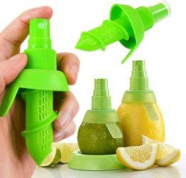 Un divertente erogatore trasforma limoni e agrumi nel tuo personale e naturalissimo spruzzino!