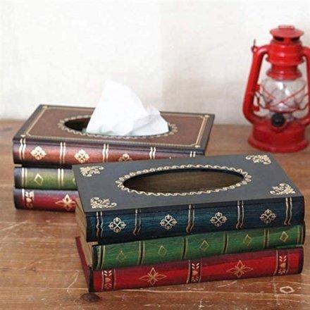 casa-ufficio Porta Saviette in Legno a Forma di Libro