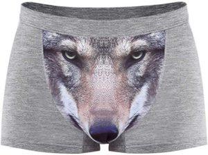 """Nell'episodio di oggi di """"Sì, a quanto pare vendono anche questo"""", abbiamo queste mutande da lupo, che essenzialmente trasforma il tuo profilo migliore nel muso di un lupo che sporge verso l'esterno."""