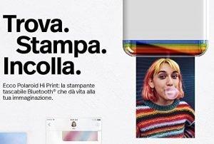La Stampante Fotografica Tascabile Polaroid ti consente di stampare le foto del tuo cellulare ovunque ti trovi. E' un'idea regalo amatissima da chiunque la riceverà.