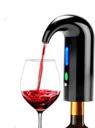 Un erogatore automatico per vino che funge anche da tappo. Un elegante accessorio da sfoggiare durante feste e cene.