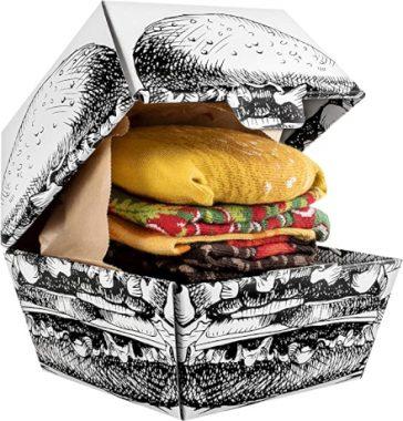 Se sei in cerca di una idea regalo originale divertente ma anche utile, allora questo è quello che fa per te! Due paia di divertenti calzini presentati come se fossero un goloso Hamburger!